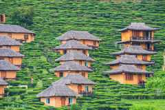 Traditional huts on the mountain Stock Photo