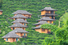 Traditional huts on the mountain Stock Image