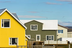 Traditional icelandic architecture at city of Grindavik Stock Photography
