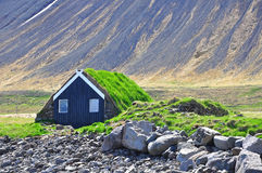 Traditional icelandic cabin Royalty Free Stock Image