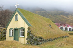 Traditional icelandic church in Iceland Stock Images