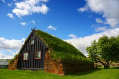 Traditional Icelandic House Royalty Free Stock Photography