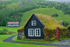Traditional icelandic house Royalty Free Stock Images