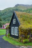 Traditional icelandic house Royalty Free Stock Image