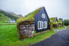 Traditional icelandic house Stock Photography