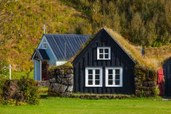 Traditional icelandic houses Royalty Free Stock Image