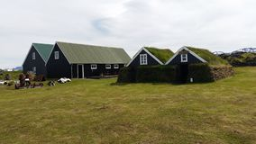 Traditional icelandic old houses Royalty Free Stock Photo