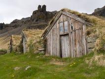 Traditional Icelandic Turf House Stock Photography