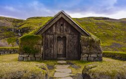 Traditional Icelandic Turf House Royalty Free Stock Photos