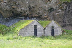Traditional Icelandic Turf Houses Stock Photography