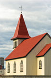Traditional icelandic wooden church in Grindavik Royalty Free Stock Photo