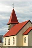 Traditional icelandic wooden church in Grindavik Royalty Free Stock Photo