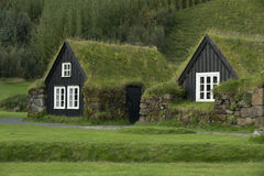 Traditional iclandic houses Stock Images