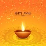 Traditional illuminated lit lamp for Diwali celebration. Royalty Free Stock Image