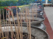Traditional Incense stick Lit At Temple. Traditionally associated With The spirit Royalty Free Stock Photography