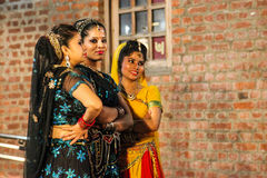 Traditional india dance. Royalty Free Stock Photography