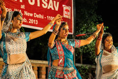 Traditional india dance. Basant utsav at Dilli Haat. New Delhi Feb. 2013 Stock Photography