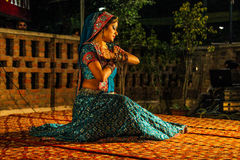 Traditional india dance. Royalty Free Stock Image