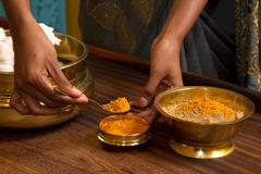 Traditional indian ayurvedic  massage Royalty Free Stock Images