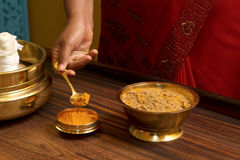 Traditional indian ayurvedic  massage Stock Images