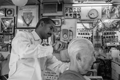 Traditional Indian Barber Royalty Free Stock Image