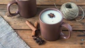 Traditional Indian black tea. Masala tea. Spiced tea with milk Stock Images