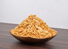 Traditional Indian Boondi Mixture Namkeen Stock Image
