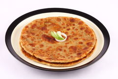 Traditional Indian bread-Aloo paratha Royalty Free Stock Images