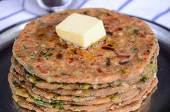 Traditional Indian Breakfast Paratha. Indian flat bread or Parantha,paratha Royalty Free Stock Photo