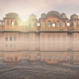 Traditional indian building. Traditional indian building on the Ganges in the mist Stock Photography