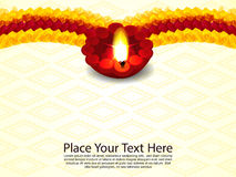 Traditional Indian Celebartion Background with deepak Stock Image