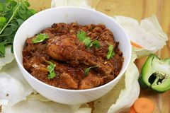 Indian  Spicy Chicken curry Royalty Free Stock Image