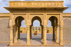 Traditional indian column arc. Entrance Royalty Free Stock Photos
