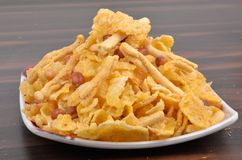 Traditional indian corn flakes namkeen Royalty Free Stock Image
