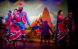 Traditional Indian Dance in Khajuraho, India Stock Image