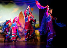 Traditional Indian Dance in Khajuraho, India Royalty Free Stock Image