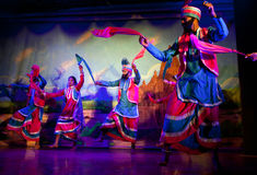 Traditional Indian Dance in Khajuraho, India Royalty Free Stock Photo