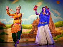 Traditional Indian Dance in Khajuraho, India Stock Images