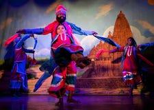 Traditional Indian Dance in Khajuraho, India Stock Photos