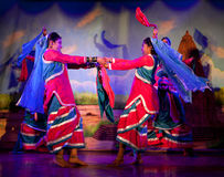 Traditional Indian Dance in Khajuraho, India Stock Photography