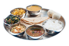 Traditional Indian Dinner Plate Stock Photo
