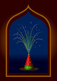 Traditional Indian Diwali fireworks  Stock Image