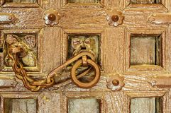 Traditional Indian door knocker Golden Fort of Jaisalmer, Rajast Royalty Free Stock Images