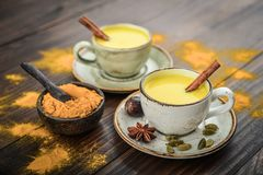 Traditional Indian drink turmeric milk royalty free stock images