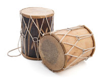 Traditional Indian drums. Isolated on white background royalty free stock photos