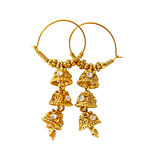 Traditional  indian earrings Royalty Free Stock Photos