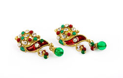 Traditional Indian Earrings Royalty Free Stock Images