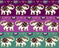 Traditional indian elephant background. Typical indian elephant decoration banner background set. Vector file available Royalty Free Stock Photos