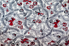 Traditional Indian fabric design Stock Image