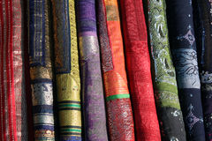 Traditional Indian Fabrics Stock Photo
